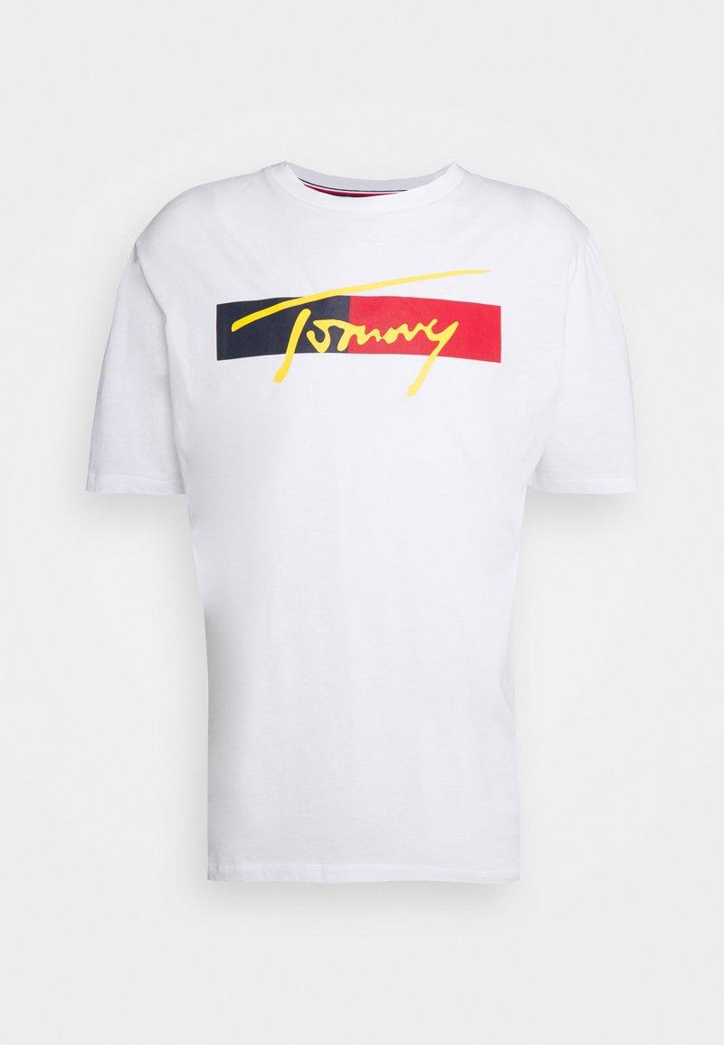 Tommy Hilfiger - DROP SHOULDER TEE - Camiseta de pijama - white