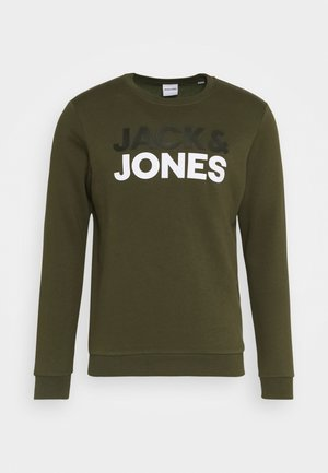 JJSPORTS CREW NECK - Mikina - forest night
