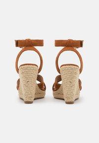 ONLY SHOES - ONLAMELIA LIFE STITCH  - Sandales à plateforme - cognac - 3