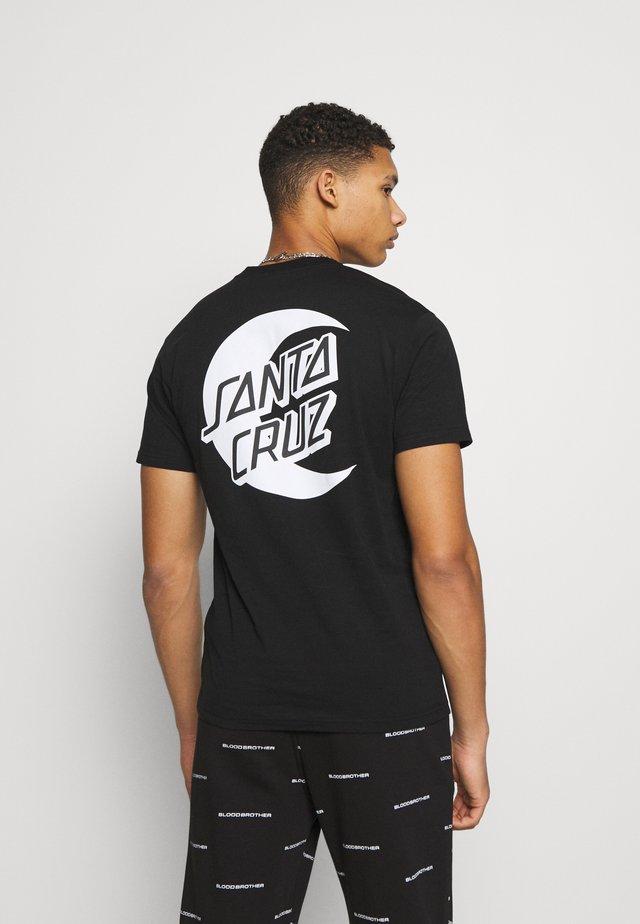 MOON DOT MONO UNISEX  - T-shirts med print - black