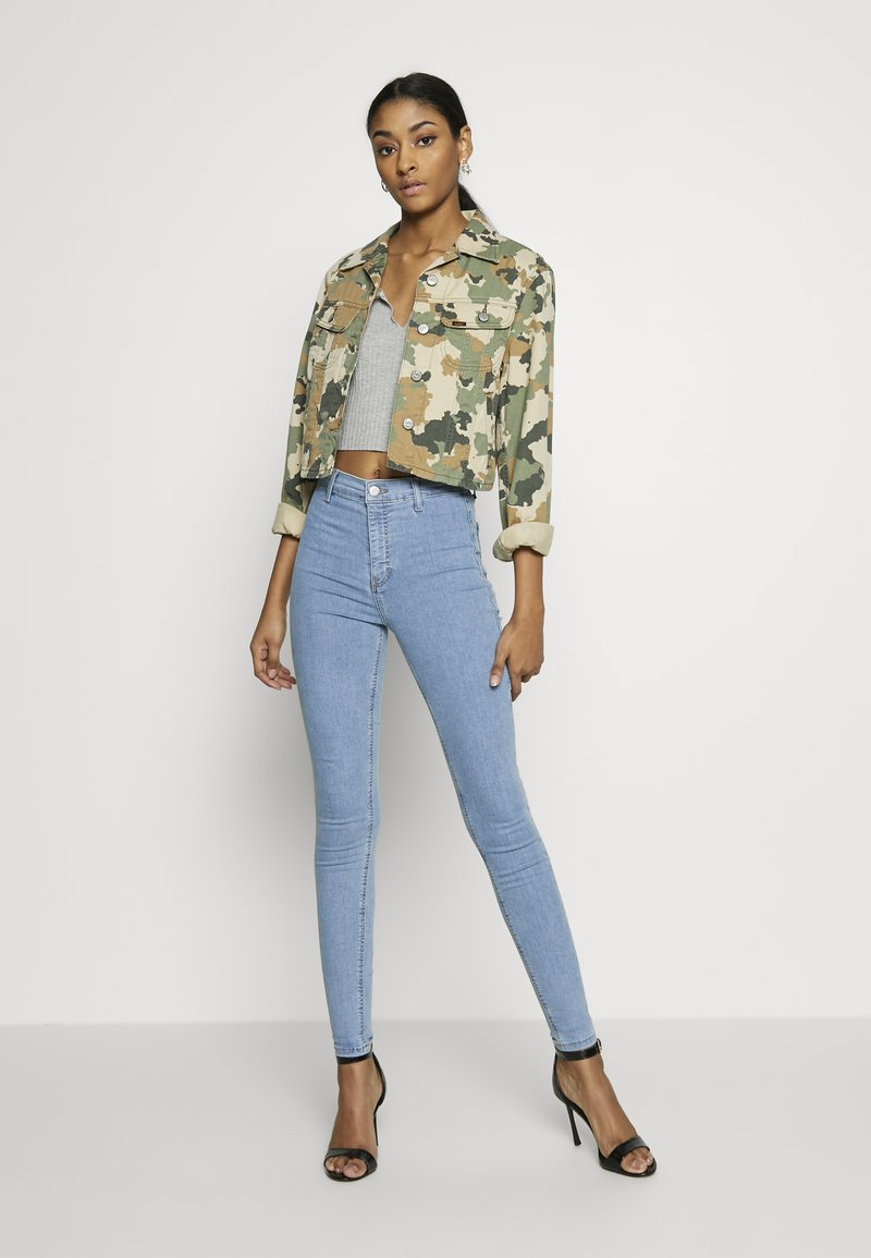 Topshop JONI - Jeans Skinny Fit - bleached denim qkrkqn