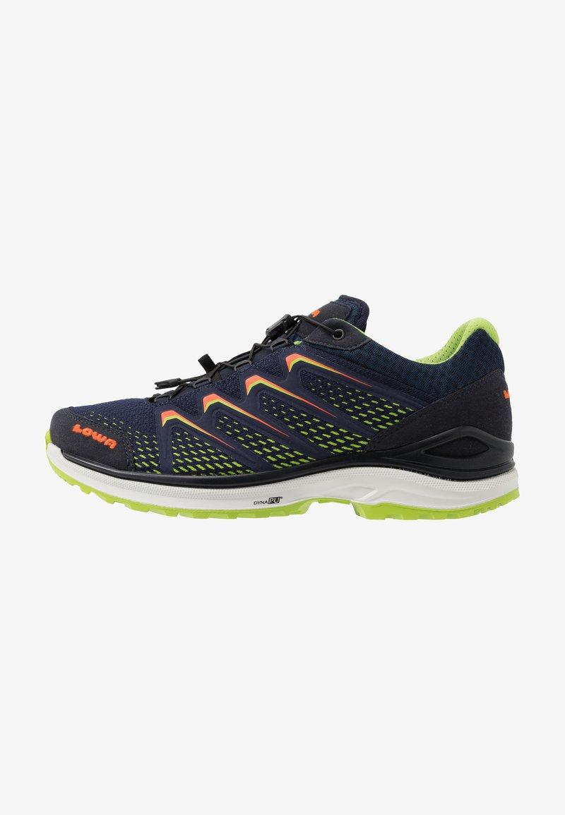 Lowa - MADDOX GTX - Hiking shoes - navy/limone