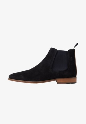 VENTINO - Classic ankle boots - navy/tan