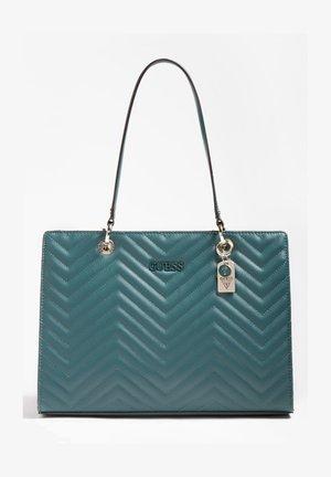 ISLA GESTEPPT - Handbag - grünblau