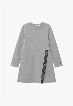 LOGO PUNTO WRAP - Jersey dress - grey