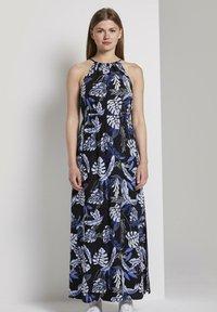 TOM TAILOR DENIM - TROPICAL  - Maxi dress - black blue tropical print - 3