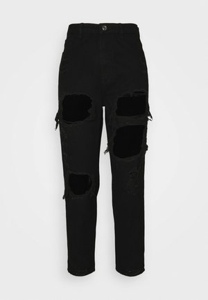 RIOT HIGH RISE - Straight leg jeans - black