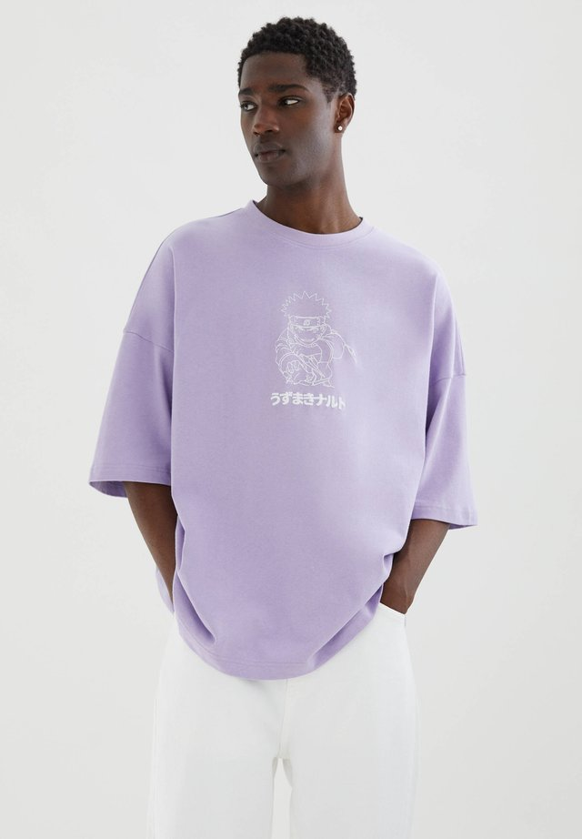 MIT NARUTO-MOTIV - T-shirt print - mauve