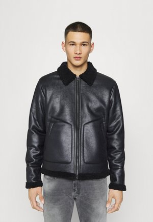 ONSBEN AVIATOR - Faux leather jacket - black