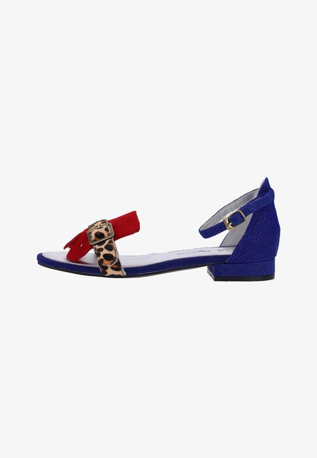 Sandales - blue/red