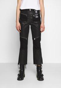 Diesel - DE-EARLIE TROUSERS - Trousers - black - 0
