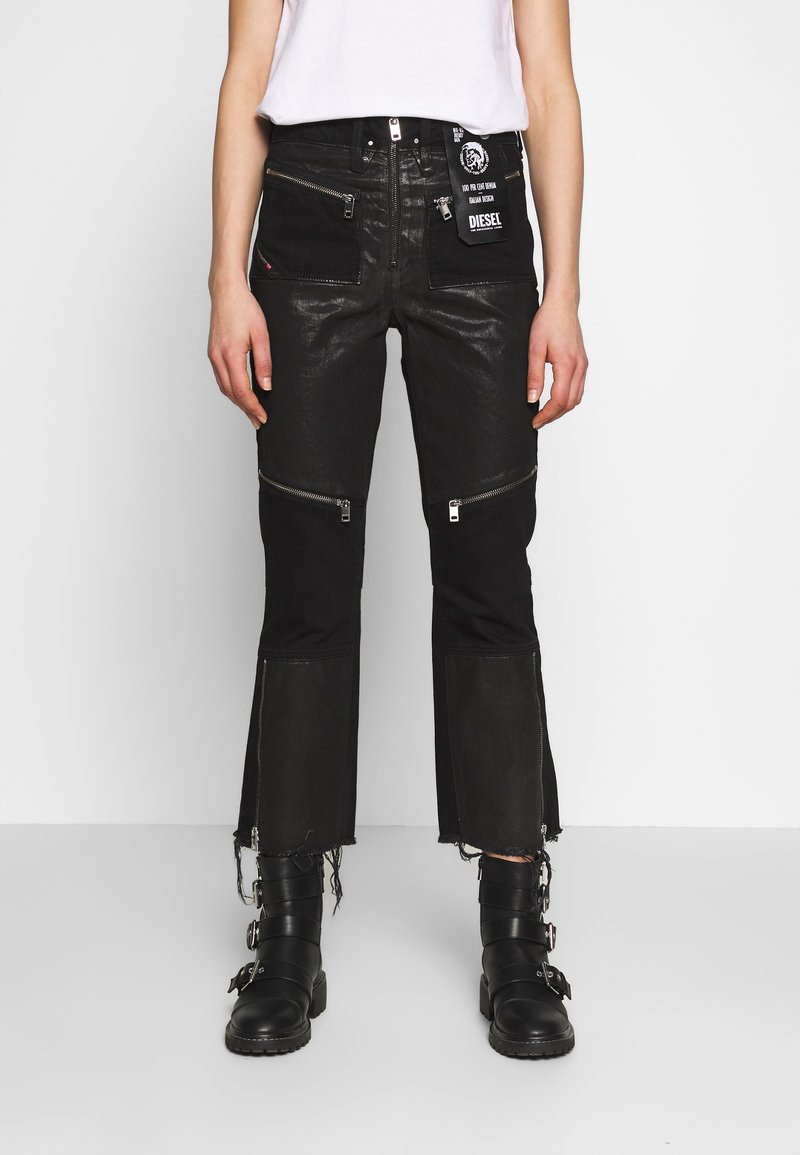 Diesel - DE-EARLIE TROUSERS - Trousers - black