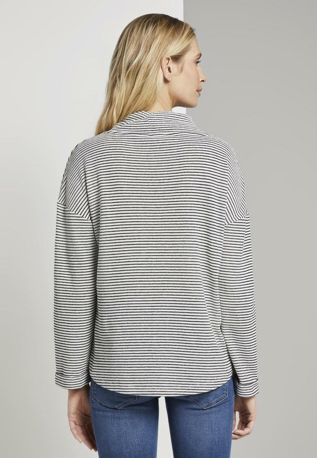 TOM TAILOR Sweater - offwhite/black - Dames jas Ontwerper