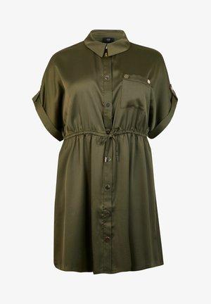 TIE WAIST  - Shirt dress - khaki