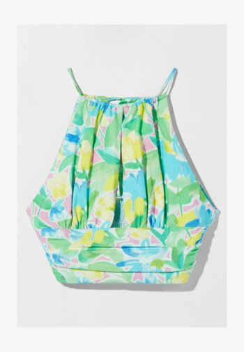 WITH HALTER NECK - Linne - green