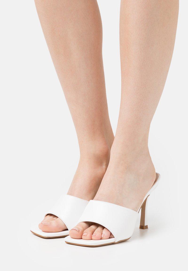BEBO - BRIYA - Heeled mules - white