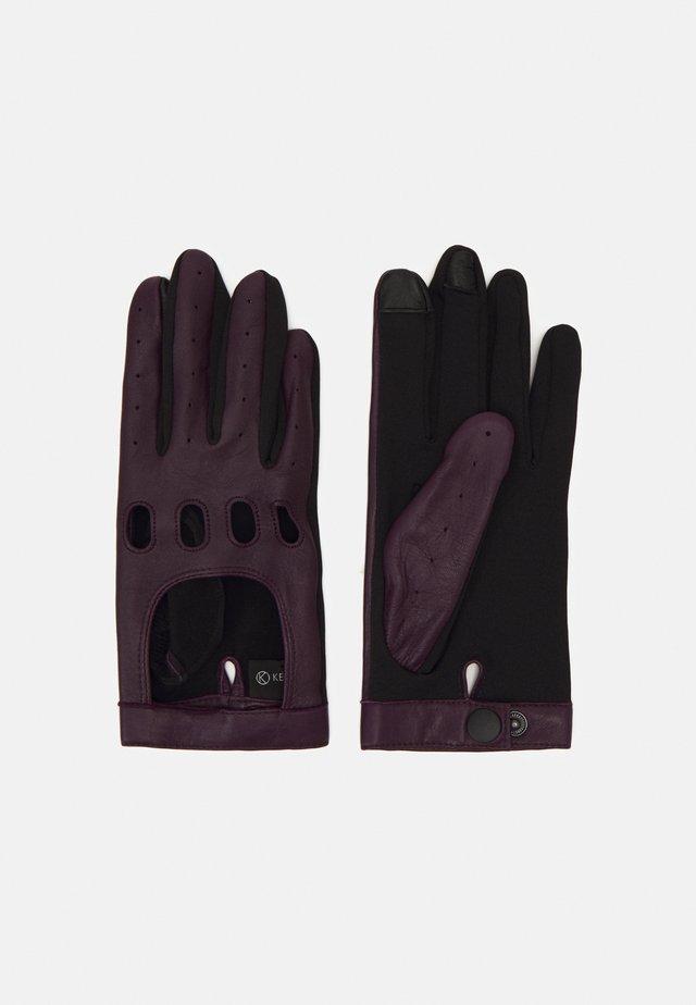 Rękawiczki pięciopalcowe - deep purple