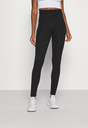 Leggings - Trousers - black dark