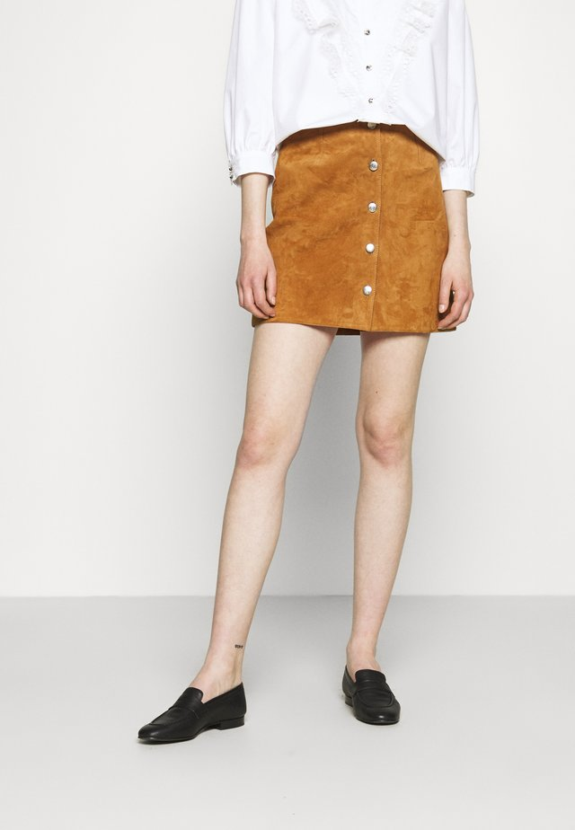 PENCIL SKIRT - Mini skirt - tan