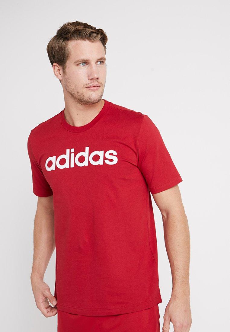 adidas Performance - LIN TEE - Print T-shirt - red
