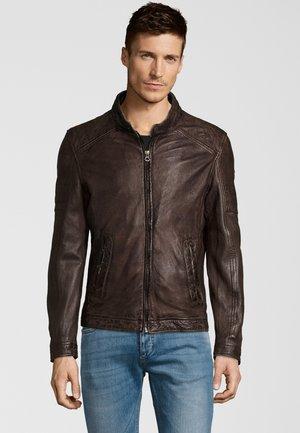 CAVE LANOV - Leather jacket - brown