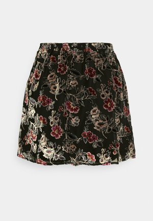 FLARE SKIRT - A-Linien-Rock - black