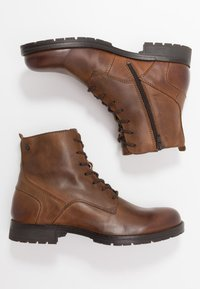 Jack & Jones - JFWORCA  - Lace-up ankle boots - cognac - 1