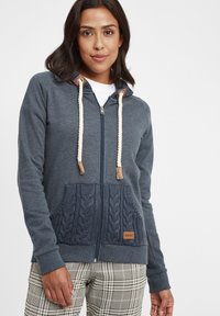 Oxmo - MATILDA - Zip-up hoodie - ins bl mel - 0