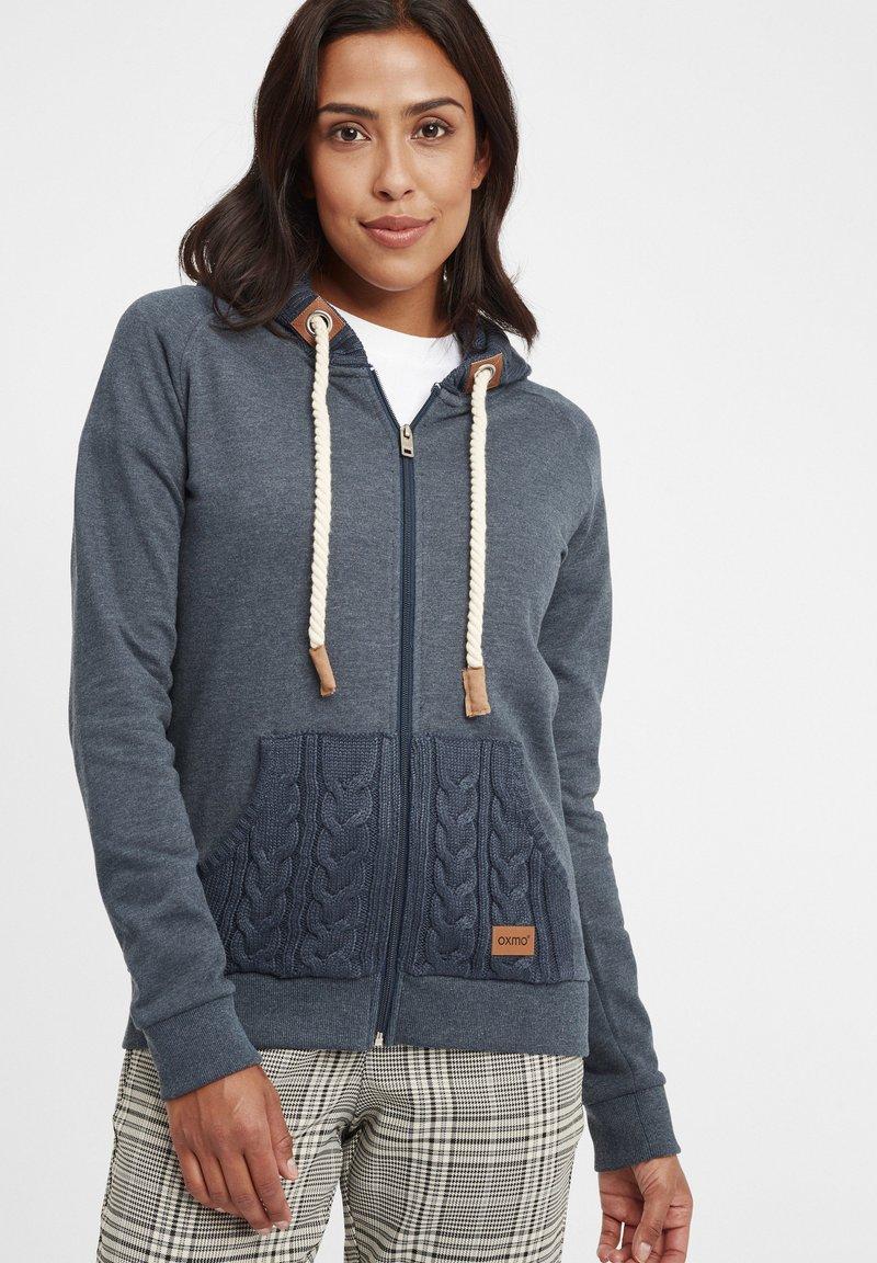 Oxmo - MATILDA - Zip-up hoodie - ins bl mel
