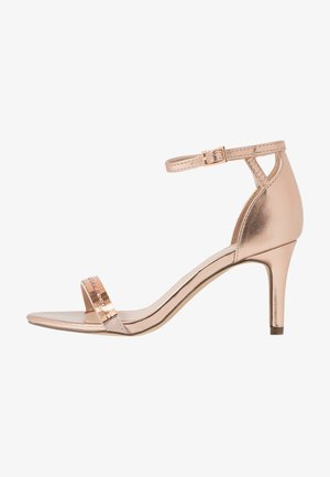 SLING MIRROR TRIM 2 PART - Sandaler med høye hæler - rose gold