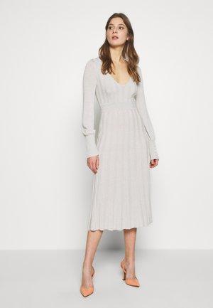 ABITO DRESS - Jumper dress - statue white lurex