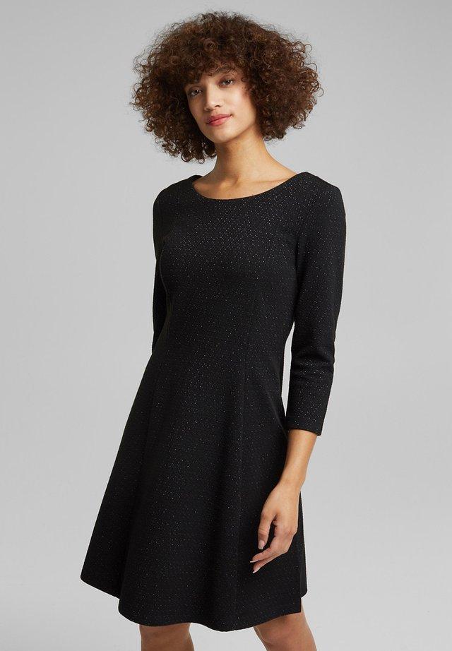 MIT GLITZER - Jersey dress - black