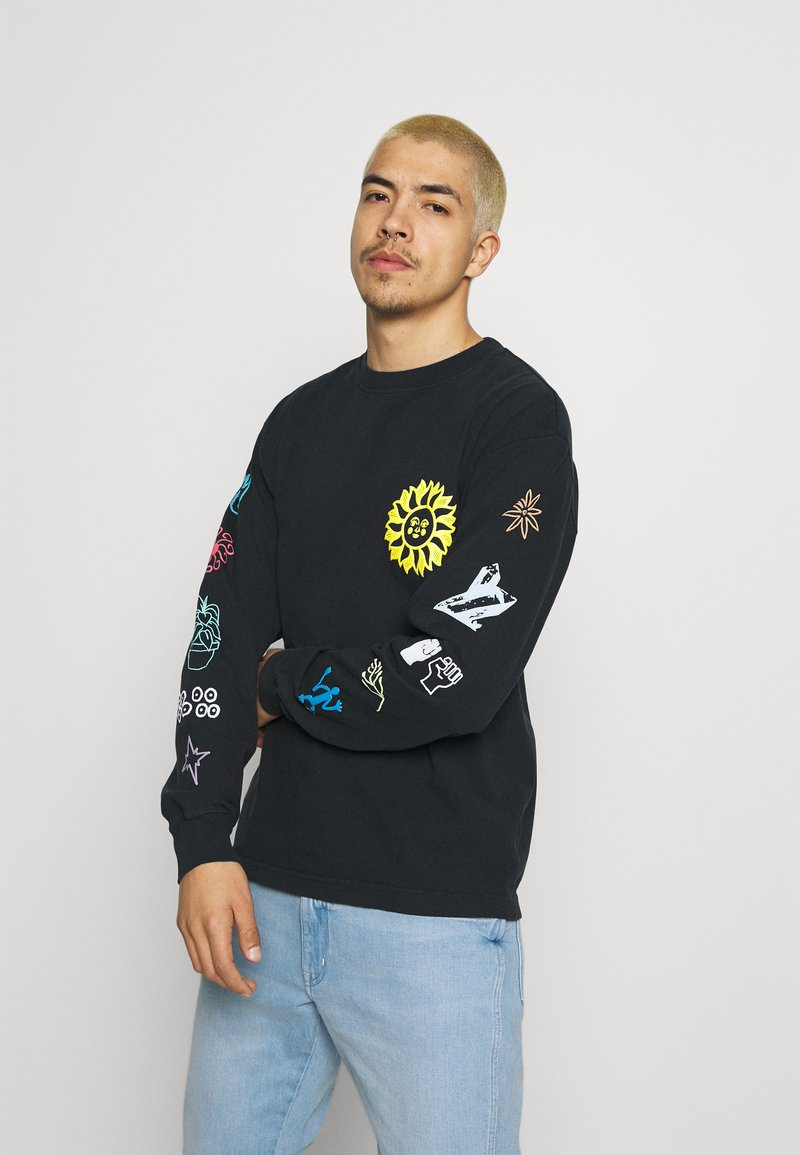 Obey Clothing - PEACE JUSTICE EQUALITY - Pitkähihainen paita - off black