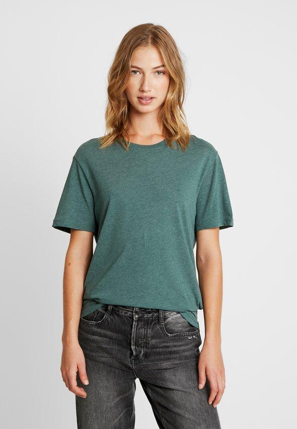 Pier One T-shirt basic - green melange/zielony melanż Odzież Męska AUDR
