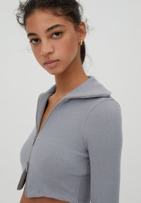 PULL&BEAR - Cardigan - grey - 3