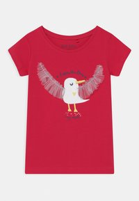 Blue Seven - SMALL GIRLS HAPPY SEAGULL - T-shirt print - hochrot - 0