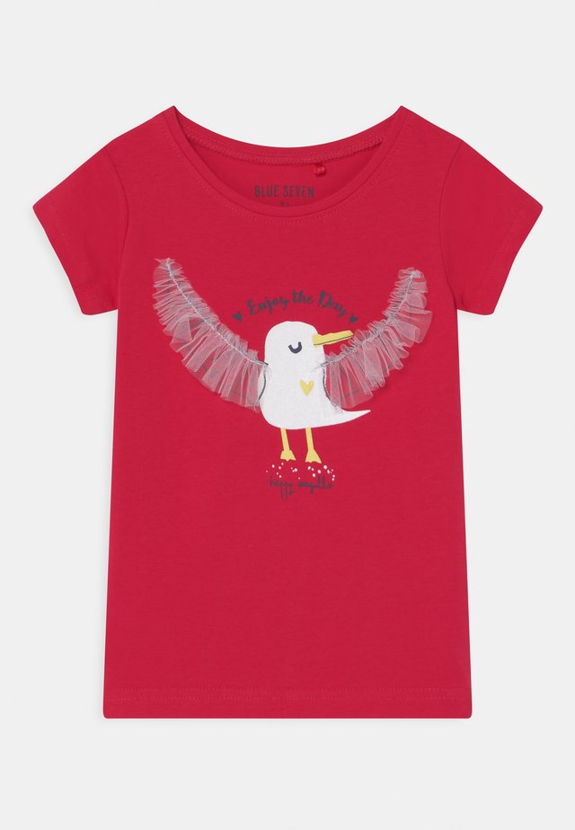 SMALL GIRLS HAPPY SEAGULL - T-shirt con stampa - hochrot