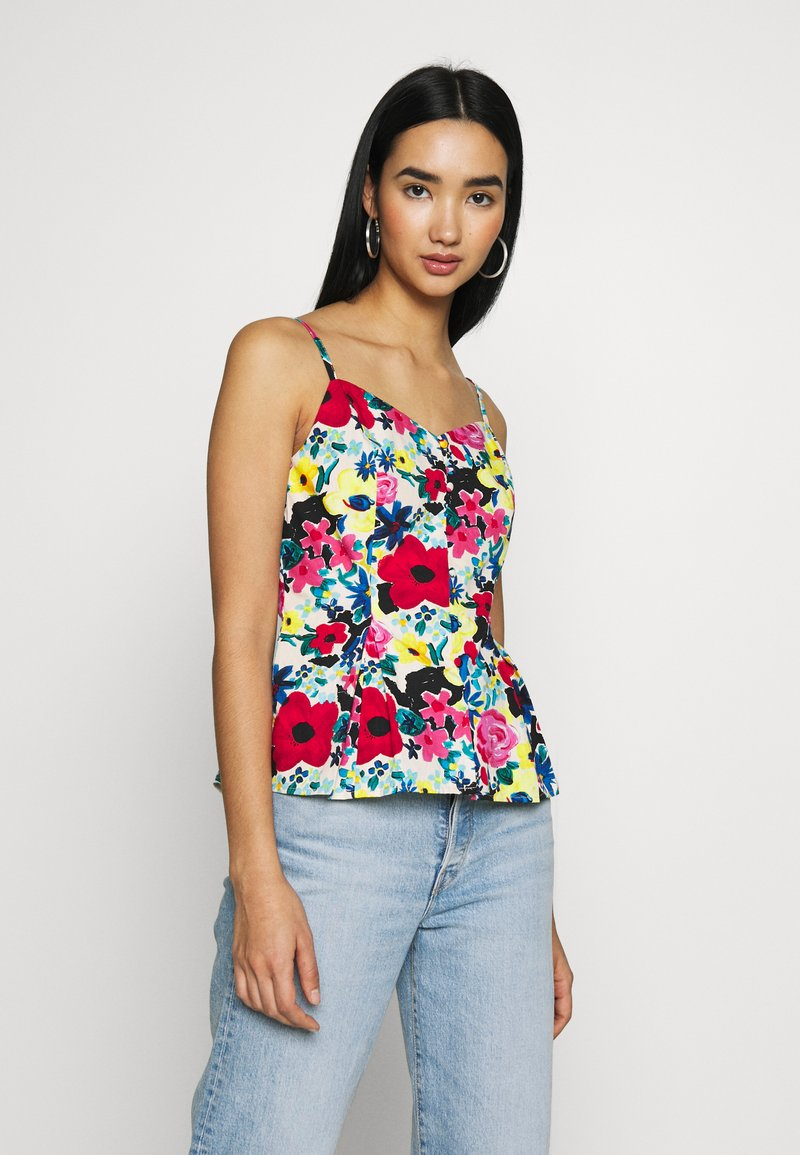 NA-KD - THIN STRAP FLOWY SINGLET - Bluser - multi-coloured