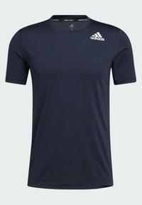 adidas Performance - TURF SS PRIMEGREEN TECHFIT TRAINING WORKOUT COMPRESSION T-SHIRT - Print T-shirt - blue - 6