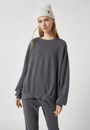 Mikina - mottled dark grey