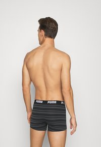 Puma - HERITAGE STRIPE 2 PACK - Panties - black - 2