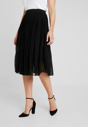MIDI PLEATED SKIRT - A-line skirt - black