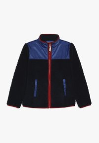 J.CREW - COLORBLOCKED SHERPA JACKET - Fleece jacket - navy - 0