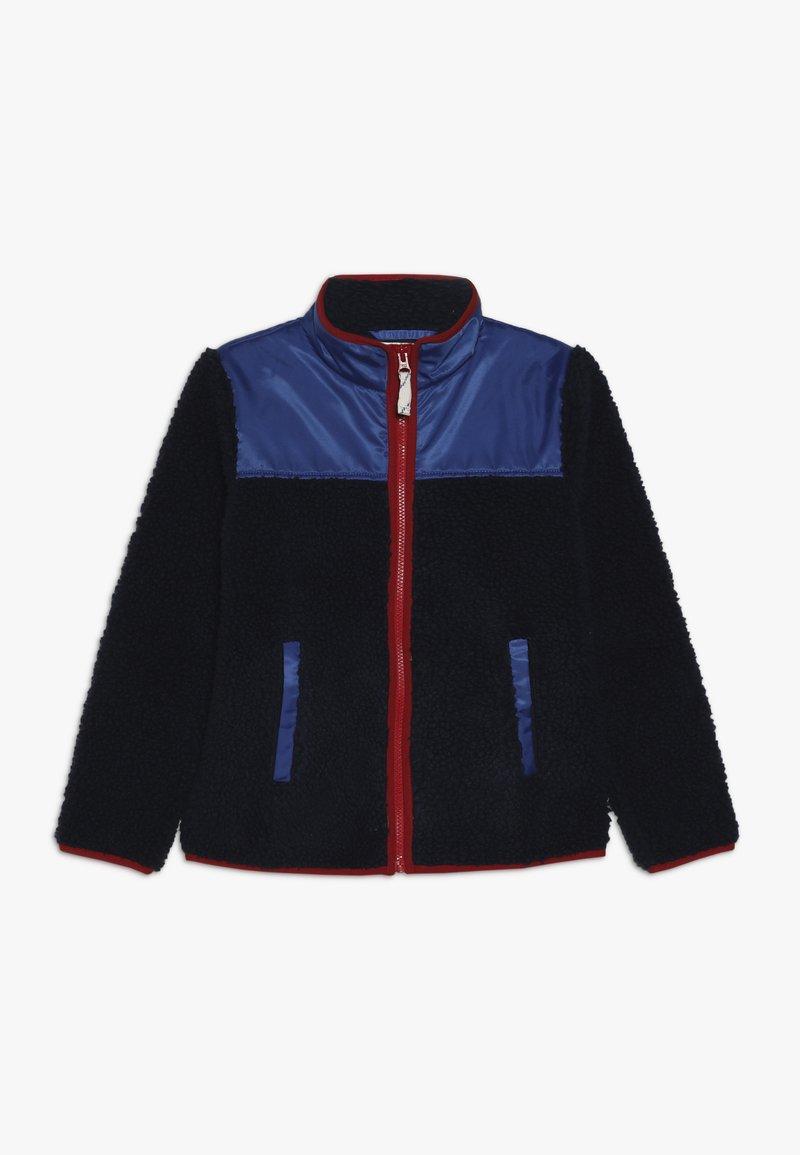 J.CREW - COLORBLOCKED SHERPA JACKET - Fleece jacket - navy