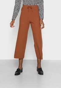 TOM TAILOR DENIM - COZY CULOTTE - Trousers - amber brown - 0