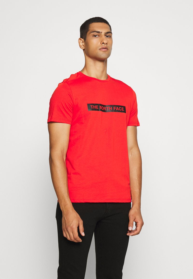 The North Face - LIGHT TEE - T-shirt med print - fiery red