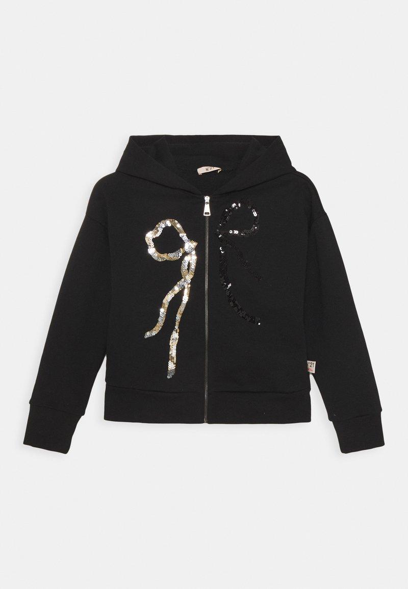 N°21 - FELPA - Zip-up hoodie - black