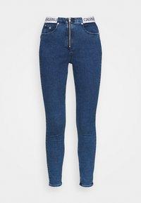 Calvin Klein Jeans - HIGH RISE SUPER SKINNY - Jeans Skinny Fit - dark blue - 4