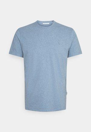 THOR MELANGE - T-shirt - bas - true navy melange