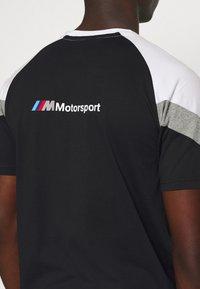 Puma - BMW TEE - Print T-shirt - black - 5